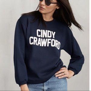 Reformation Cindy Crawford navy sweatshirt